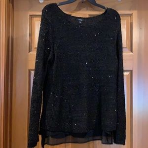Beautiful sequin sweater with lining for layering.